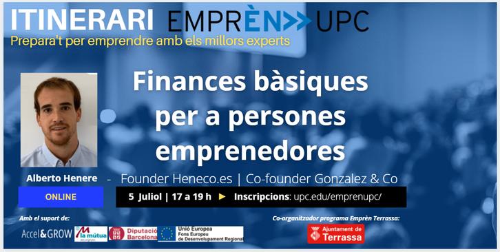 Sessió finances Itinerari Emprèn
