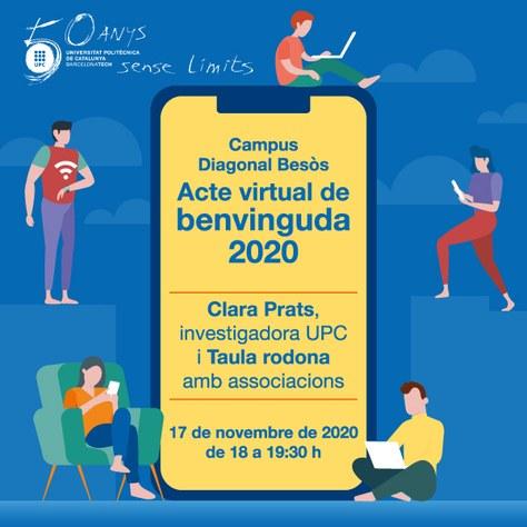 Acte virtual de Benvinguda 2020 - Campus Diagonal Besòs