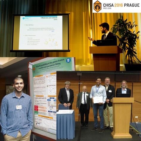 Alumnes d'Enginyeria Química de l'EEBE participen al CHISA-2016 (Congrés Internacional d'Enginyeria Química) Praga, i guanyen el premi al millor pòster