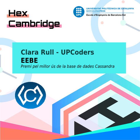 Clara Rull - UPCoders EEBE, premiada a HackCambridge.