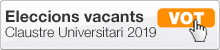 Convocatòria d'eleccions per a la provisió de vacants al Claustre Universitari 2019