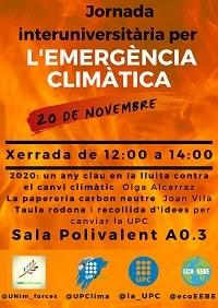 EEBE - Jornada interuniversitaria per la Emergència Climàtica