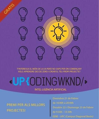 Participa a l'UPCodingWKND i iniciat al món de la intel·ligència artificial a l'EEBE