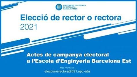 Presentació del programa electoral dels candidats a rector de la UPC