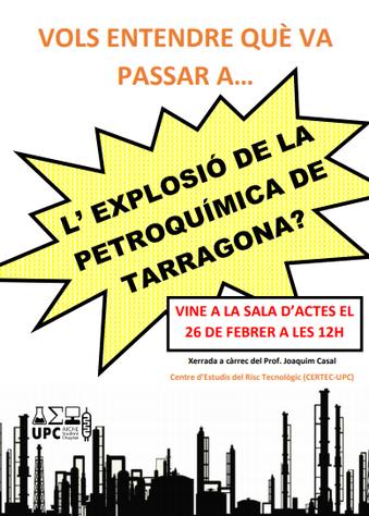 Xerrada tècnica sobre l'accident de Tarragona - CERTEC / EEBE
